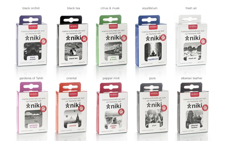 mr mrs niki diffuseur de parfum design pour voiture. Black Bedroom Furniture Sets. Home Design Ideas